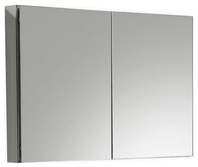"""Kube 40"""" Mirrored Medicine Cabinet."""