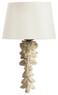Fragment Bleached White French Country Wall Sconce - Traditional - Wall Lighting - by Kathy Kuo Home