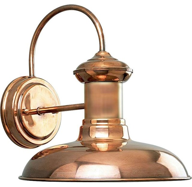 Wall Sconces Copper : Progress Lighting Brookside 1-Light Outdoor Wall Light, Copper - Traditional - Outdoor Wall ...