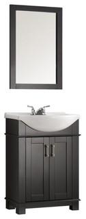 Fresca Hartford 24 Black Bathroom Vanity Transitional Bathroom Vanities And Sink Consoles