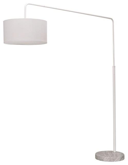 Floor Lamp In White.
