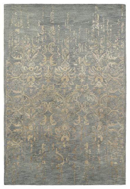 Kaleen Hand Tufted Mercery Bronze Wool And Viscose Rug, 5&x27;x7&x27;9.