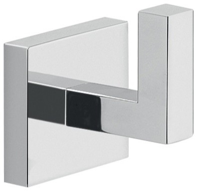 Modern square wall mounted chrome bathroom hook modern - Contemporary modern bathroom accessories ...