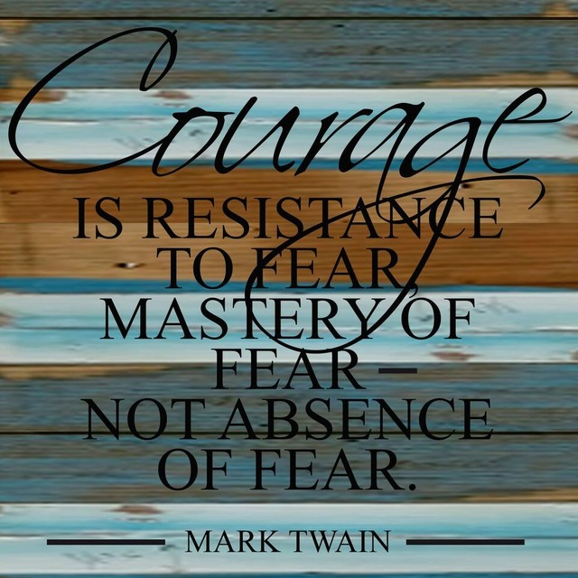 12 Quot X12 Quot Quot Courage Is Resistance To Fear Quot Cool Breeze