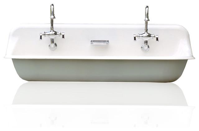 Large 48 Kohler Farm Sink Cast Iron Porcelain Trough Package Green Blue