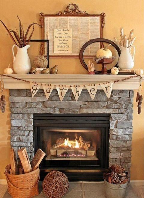 47 Cozy Fall Mantel Decor Ideas