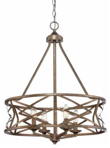 Millennium Lighting 2174 Lakewood 4 Light 1 Tier Drum Chandelier