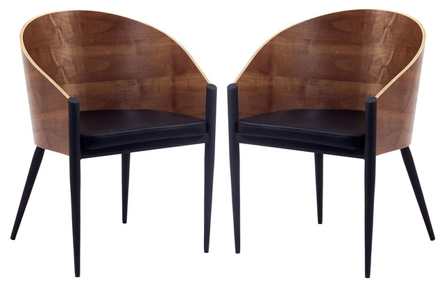 Cooper Dining Chairs Set of 2 in Walnut