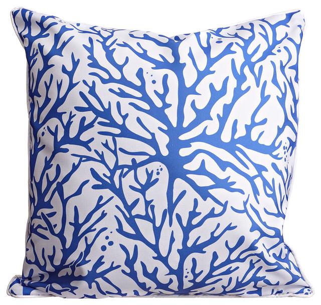 Coral Cobalt Pillow.