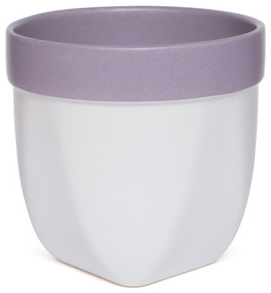 "Versa Ceramic Pot, Lavender 5"" High"