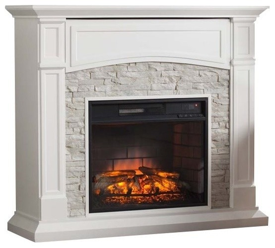 Bowery Hill Infrared Electric Fireplace Tv Stand Traditional