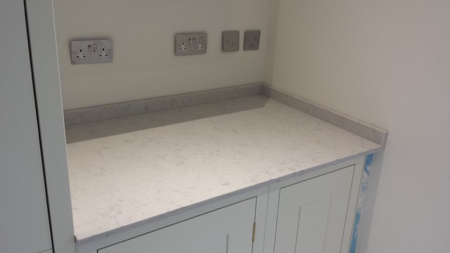 Chiswick Residence In Silestone Lagoon Suede Quartz