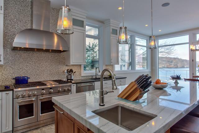 Lake house kitchen new york by dreamstyle kitchens baths llc Kitchen design lake house