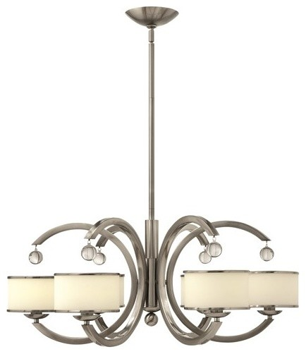 Modern 6-Arm Chandelier, Hanging Crystal Balls