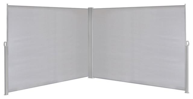 vidaXL Retractable Side Awning, Grey, 180x600 cm