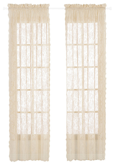 "United Curtain Co. Windsor 56""x84"" Window Panel, Natural."