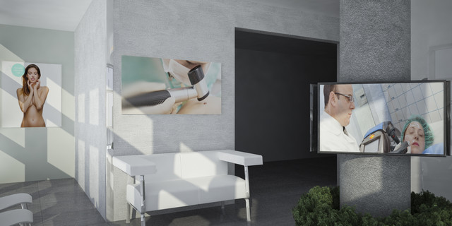 Studio medico raffadali moderno catania palermo di archistegal architettura e grafica - Mobili studio medico ...