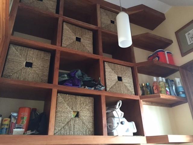Laundry room custom storage cabinets