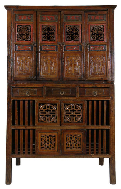 Consigned Antique, Chinese Kitchen Cabinet/Entertainment Center - Consigned Antique, Chinese Kitchen Cabinet/Entertainment Center