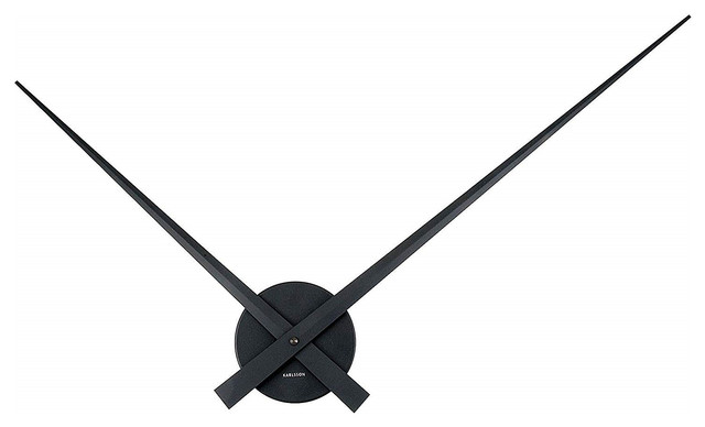 Hands Only Large Black Wall Clock