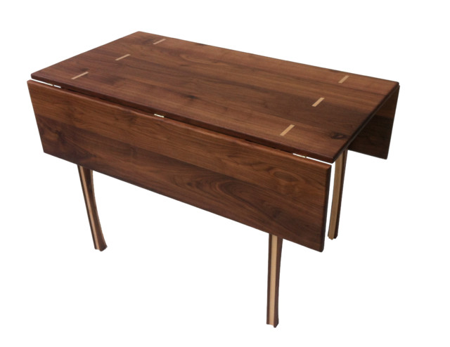 Drop Leaf Dining Table Solid Walnut 48 Square Transitional