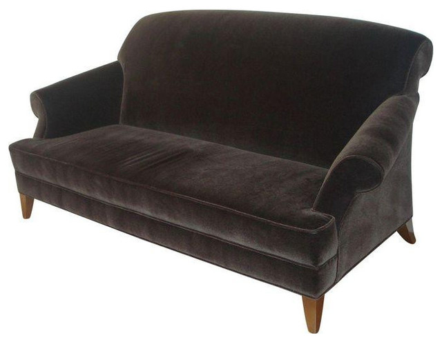 Perfect Todd Hase Brunschwig Brown Mohair Sofa   $6,500 Est. Retail   $2,800 On  Chairish