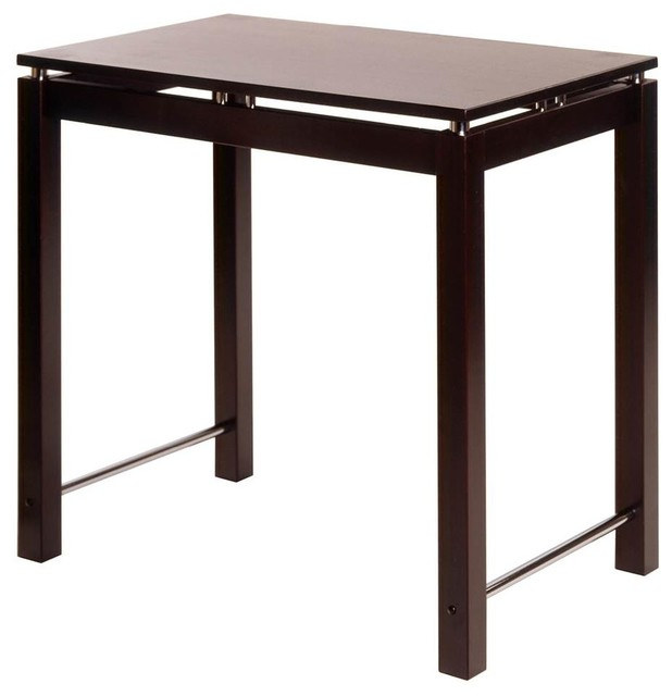 Counter Height Kitchen Island: Counter Height Kitchen Island Dinette Table In Espresso