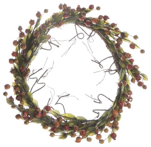 Berry And Twig Wreath.