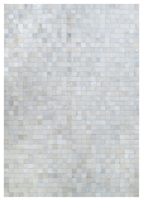Natural White Cowhide Rug, 70x250 cm