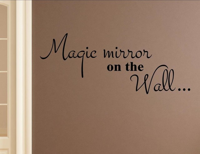 Magic Mirror On The Wall Wall Decor Stickers Contemporary - Wall decals mirror