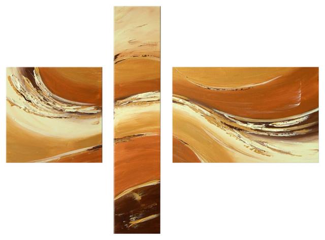 """Darco Arte """"bagliore 021"""" Painting, 31""""x63""""."""