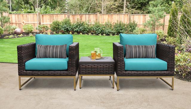 Barcelona 3 Piece Outdoor Wicker Patio Furniture Set 03a Aruba Tropical Lounge Sets By Tk Clics