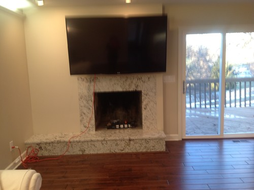 TV over fireplace....help!