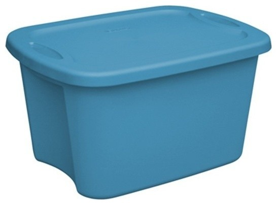 Superbe Storage Tote, Pack Of 12, Blue, 5 Gallon
