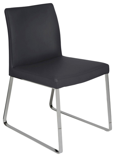 Outstanding Tanis Dining Chair Naugahyde Leather Dining Chair Modern Armless Chair Black Alphanode Cool Chair Designs And Ideas Alphanodeonline