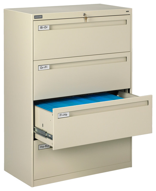 "36"" 4-Drawer Lateral File Cabinet - Contemporary - Filing ..."
