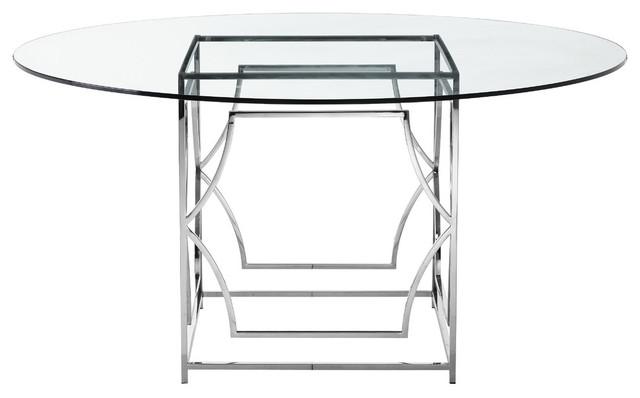 Polish Round Table.Edward Round Dining Table High Polish Steel