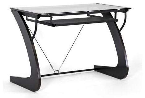 Sculpten Dark Brown Modern Computer Desk By Baxton Studio