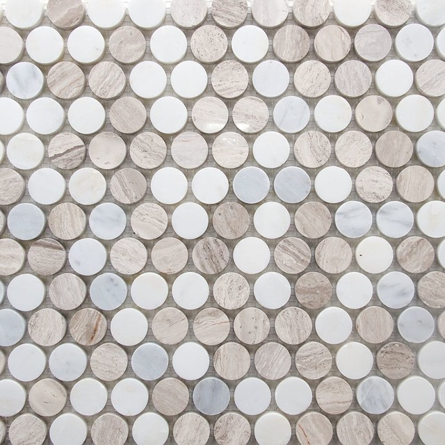 Marble Penny Round Mosaic Tile