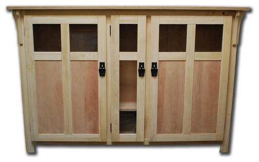 """Bungalow Unfinished TV Lift Cabinet for Flat Screen up to 60"""" - Entertainment Centers And Tv ..."""