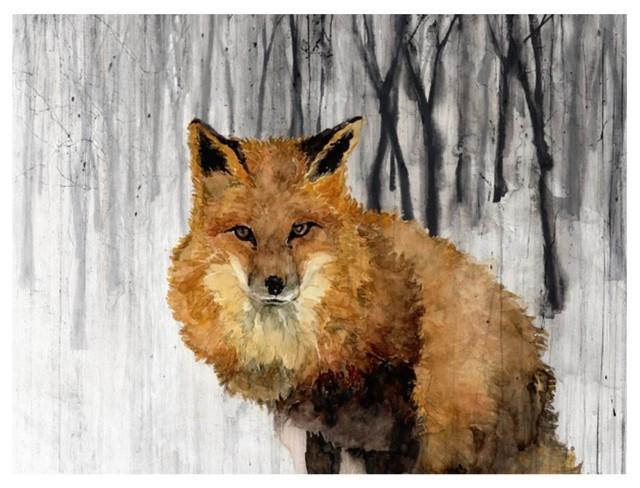 """""""Snowy Fox"""" Fine Art Piece"""