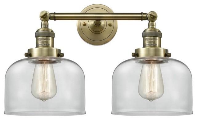 timeless design 2f020 b5307 Antique Brass 2-Light 19