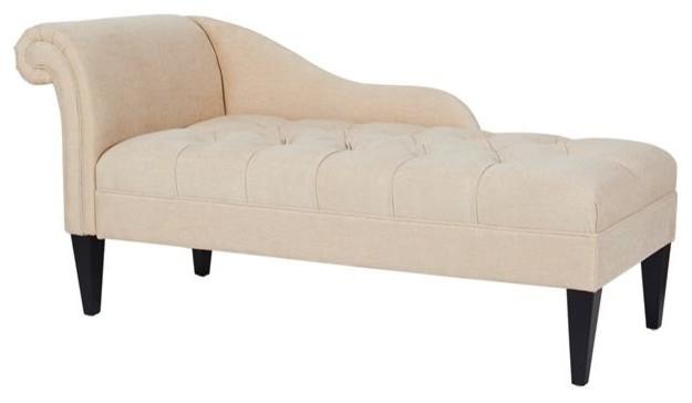 Jennifer Taylor Home Harrison Tufted Roll Arm Chaise Lounge, Beige by Jennifer Taylor Home