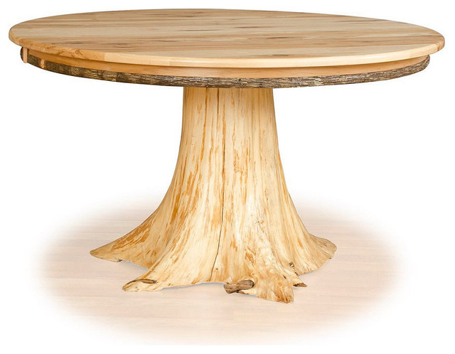 Stump Table Hickory Top And Cedar Tree Stump 36 Diameter