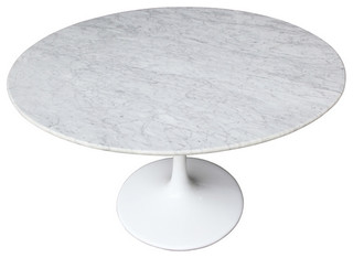 """Marble Tulip Dining Table, 32"""""""