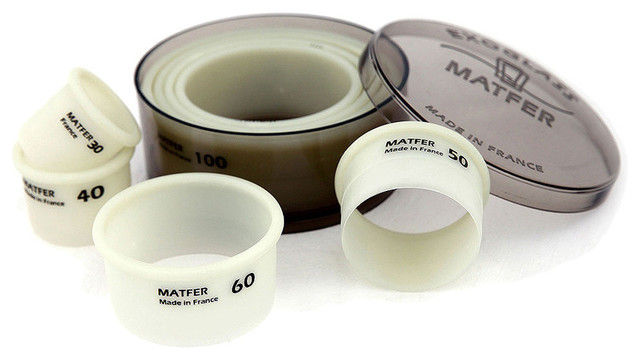 Matfer Bourgeat Exoglass Round Pastry/cookie Cutters, 7 Sizes 150104.