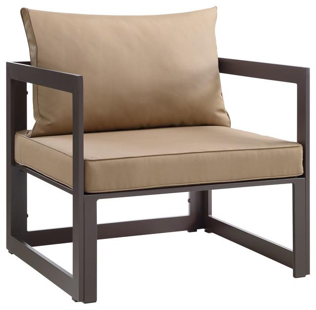 urban modern furniture. modern urban contemporary outdoor patio armchair brown fabric steel scandinavianoutdoorlounge furniture m