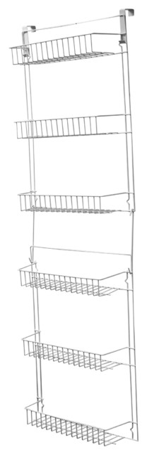 Everyday Home 5 Foot Overdoor Rack With 6 Baskets White