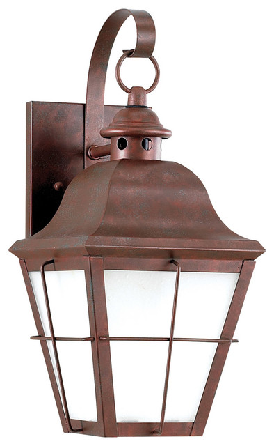 Chatham 1-Light Outdoor Wall Lights, Weathered Copper.