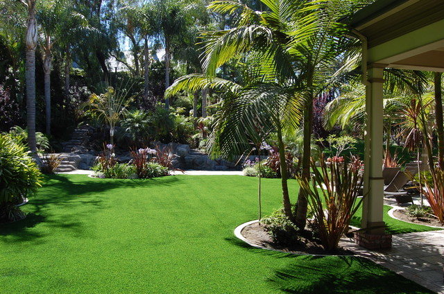 synthetic grass balinese landscape ideas